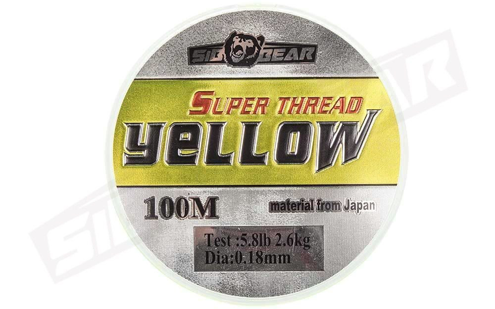 Леска SibBear Super Thread Yellow