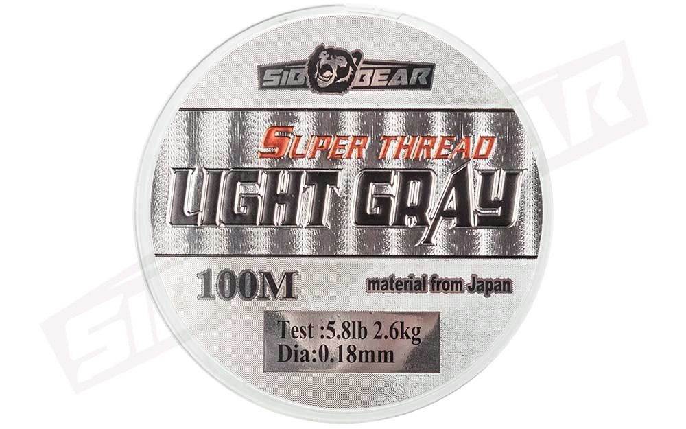 Леска SibBear Super Thread Light Gray